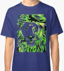 Lovely Lion Stencil (Green) Classic T-Shirt