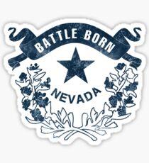 Nevada. Battle Born Flag. Vintage, Retro, Distressed. Sticker