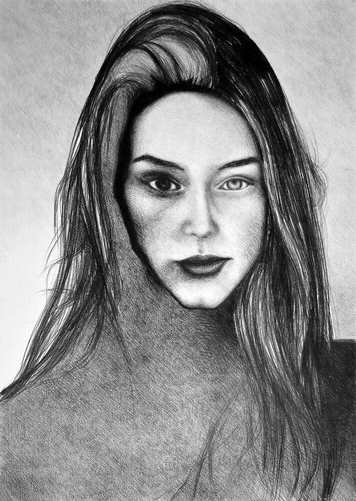 I Am Machine, 2017, 50-70cm, graphite crayon on paper by oanaunciuleanu