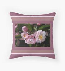 Crabapple Flowers Attract Bees Floor Pillow