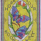 Get Well Soon Greetings Card by sharpie