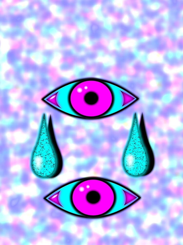 2 crying eyes pop art style - by Matilda Lorentsson by M-Lorentsson
