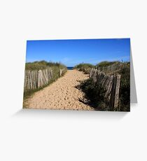 Chestnut Fence To The Beach Greeting Card