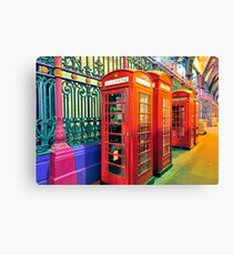 Telephone Boxes Canvas Print