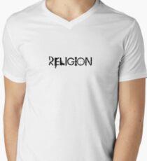 Religion Small Mens V-Neck T-Shirt