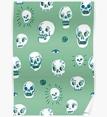 Pattern of skulls Poster