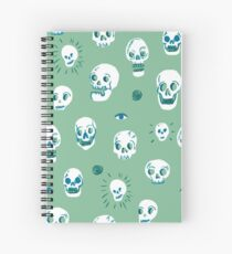 Pattern of skulls Spiral Notebook