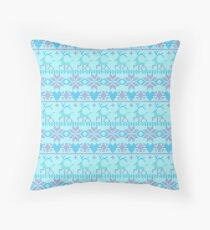 Christmas seamless pattern. Knitted festive illustration. Ugly sweater style. Nordic ornament. Floor Pillow