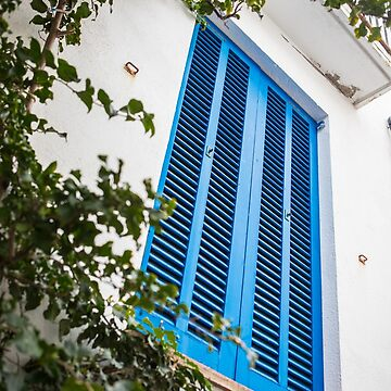 Blue shutters by Tonywallbank
