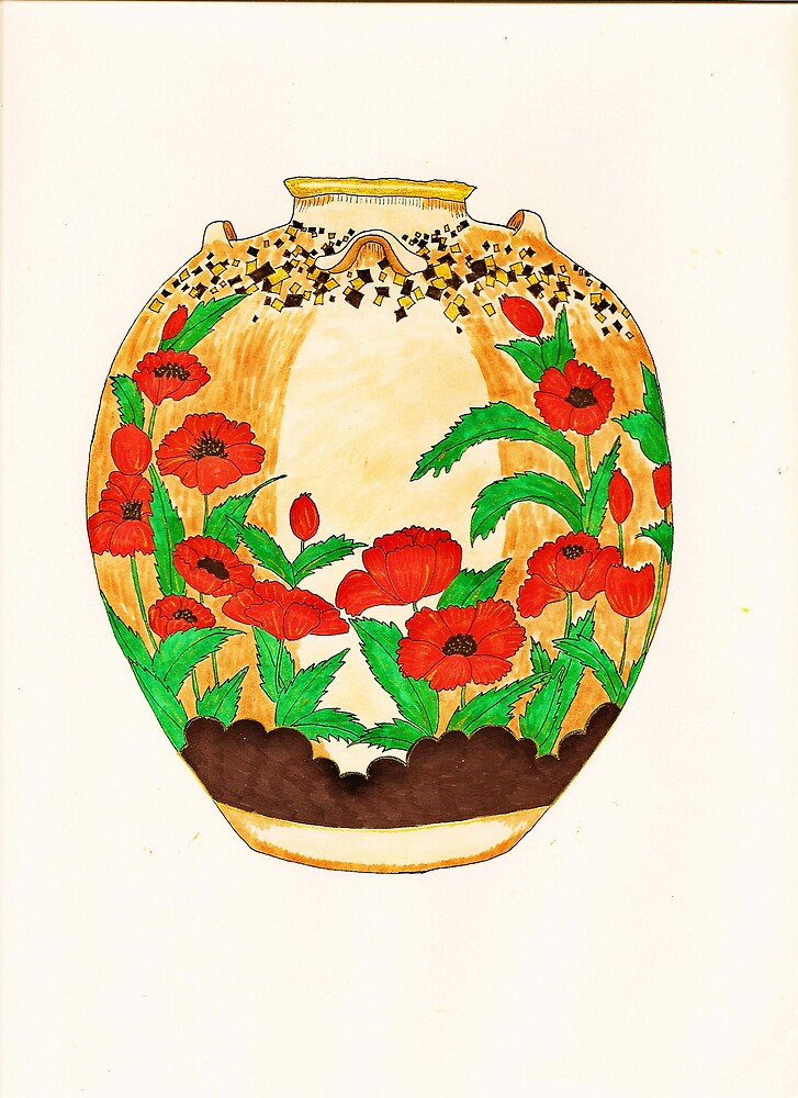 Poppy Pot by cafelatte21