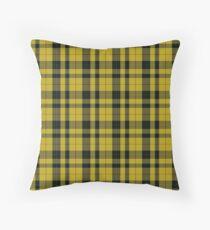 yellow and black   Clan Scottish tartan  Throw Pillow