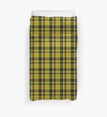 yellow and black | Clan Scottish tartan  Duvet Cover
