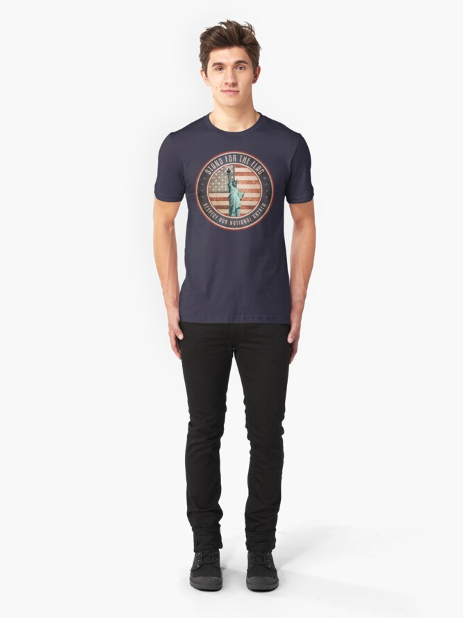 Alternate view of Stand For The Flag Slim Fit T-Shirt