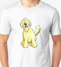Cute Golden Retriever Cartoon - Dog - Dogs - Comic T-Shirt