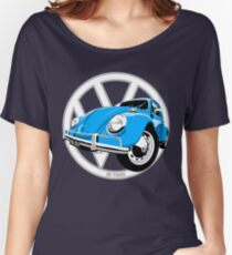 Sixties VW Beetle blue Women's Relaxed Fit T-Shirt