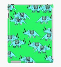 Fun Dinosaur Pattern Green iPad Case/Skin