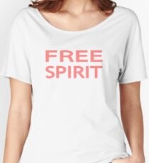 FREE SPIRIT - strips - red and white. Women's Relaxed Fit T-Shirt