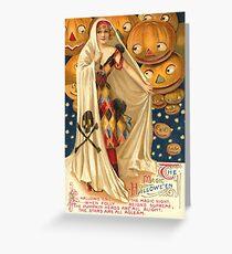 Halloween Vintage 3 (PUMPKIN PEEK) Greeting Card