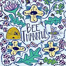 Bee Thankful - pale by Natalie Couto