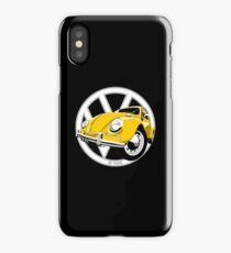 Sixties VW Beetle yellow iPhone Case/Skin
