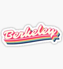 Berkeley | Retro Rainbow Sticker