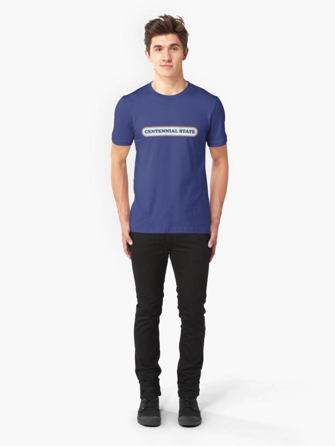 Alternate view of Centennial State | Retro Badge Slim Fit T-Shirt