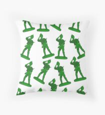 Army of Girl Toy Soldiers! Throw Pillow