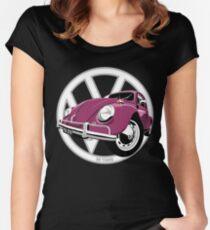 Sixties VW Beetle crimson Women's Fitted Scoop T-Shirt
