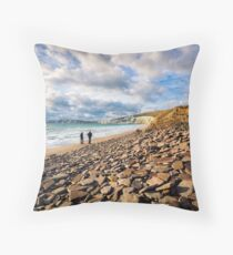 Compton Bay Beach Isle Of Wight Throw Pillow