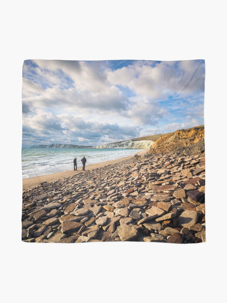 Alternate view of Compton Bay Beach Isle Of Wight Scarf