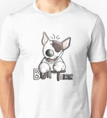 Funny Bull Terrier Comic - Dog - Dogs - Cartoon - Funny - Gift T-Shirt