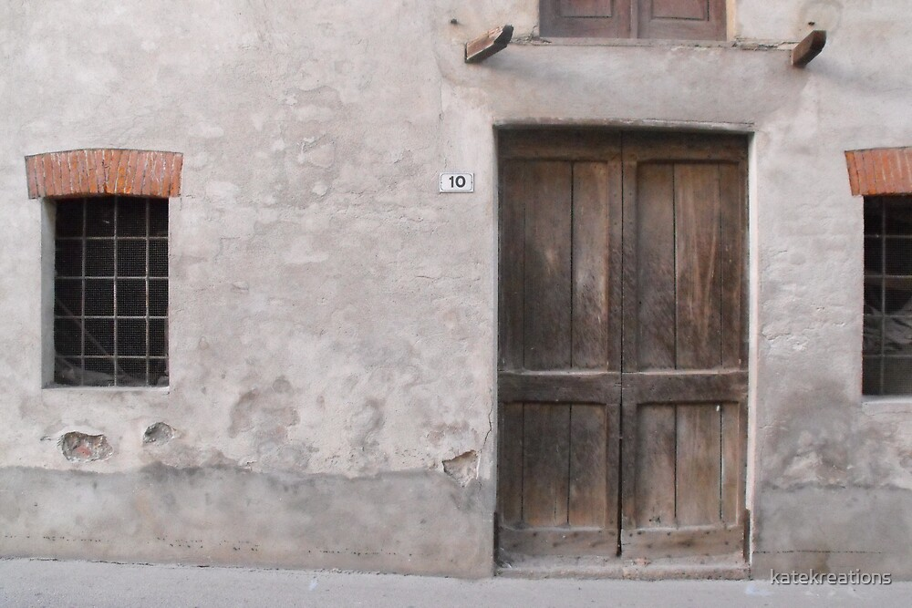 Old door in Canale northern Italy by katekreations