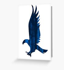 Eagle blue forest Greeting Card