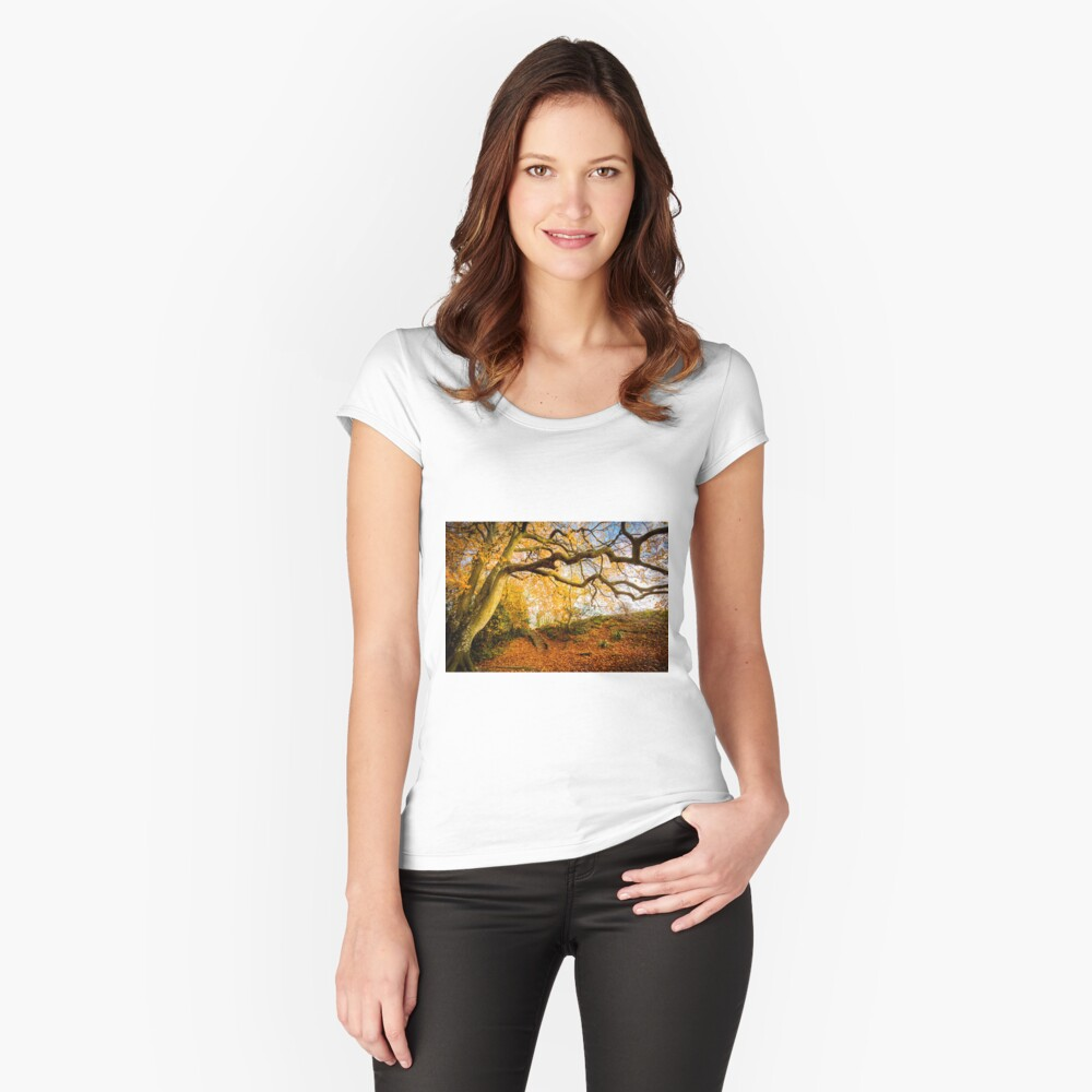 Autumns Golden Colours Fitted Scoop T-Shirt