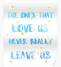 The ones than loves us Poster