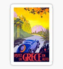Vintage Greece  Travel Poster Sticker