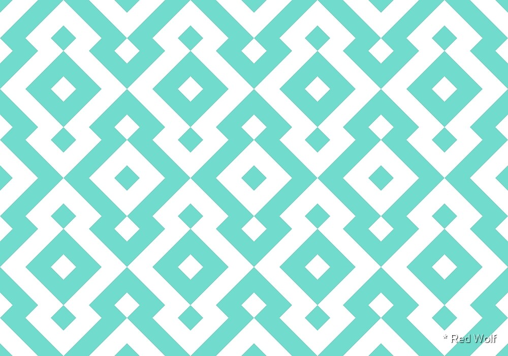 Geometric Pattern: Diamond: Blue by * Red Wolf