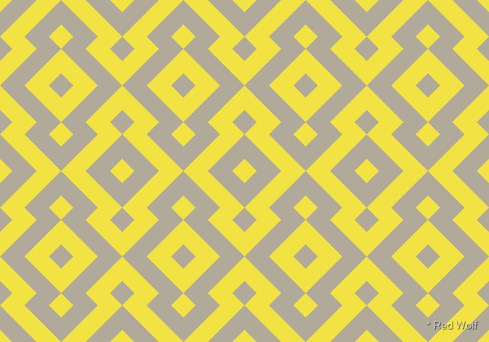 Geometric Pattern: Diamond: Yellow by * Red Wolf