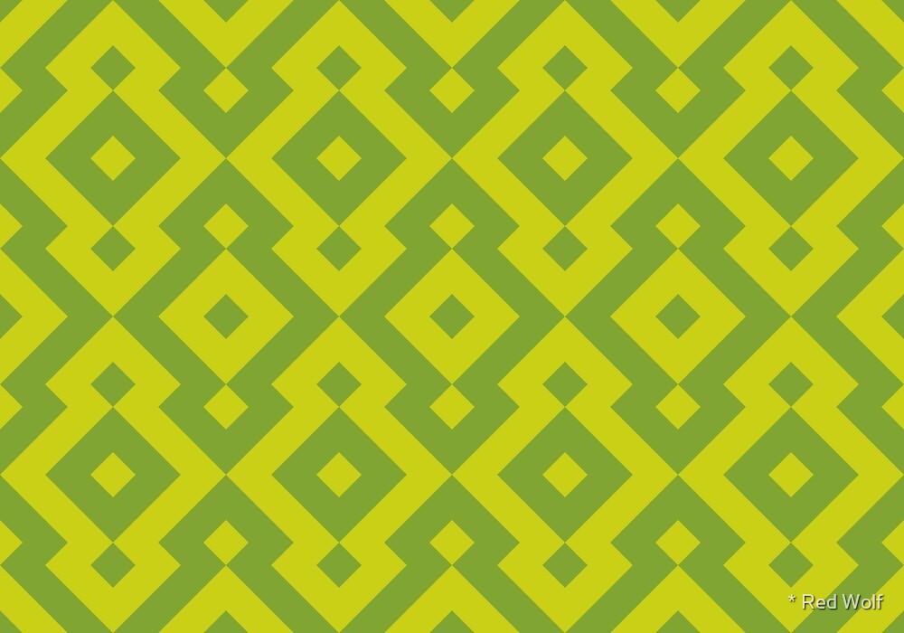 Geometric Pattern: Diamond: Green by * Red Wolf