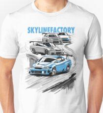 Nissan Skyline GTR Familie Unisex T-Shirt