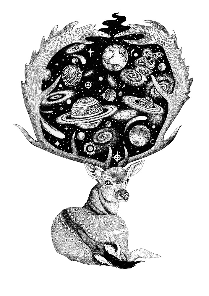 Space Deer by Ruta Dumalakaite