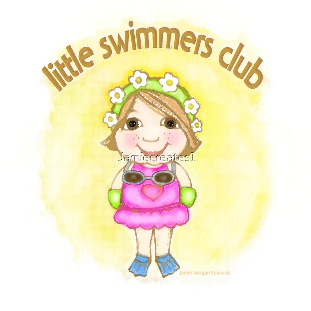 Little Swimmer Club Girl by Jamie Wogan Edwards