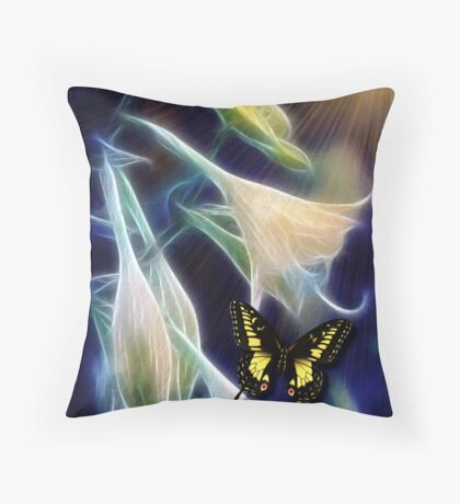 DUSK IN THE GARDEN Throw Pillow
