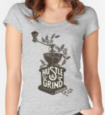 Hustle and Grind Women's Fitted Scoop T-Shirt