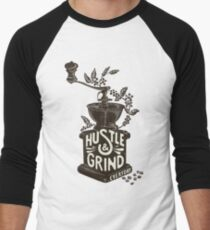 Hustle and Grind Men's Baseball ¾ T-Shirt