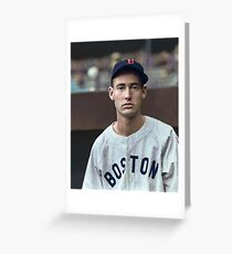 Ted Williams - Colorized Portrait Greeting Card