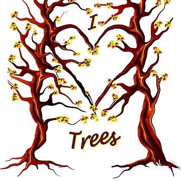 I Love Trees Tee by MyWeb