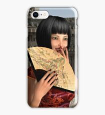 Asian Woman in Red Dress iPhone Case/Skin