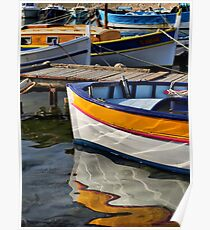 Fisher boat reflection... Poster