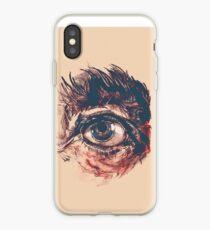 Hairy eyeball is watching you - Rötlich iPhone-Hülle & Cover